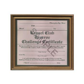 Reserve Challenge Certificate Frame